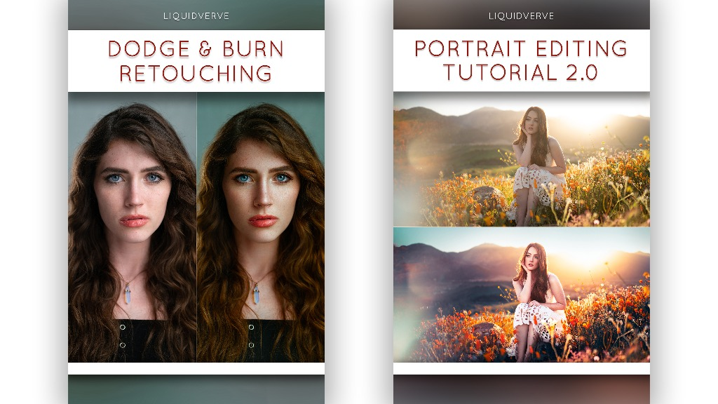 Retouching Tutorial & @Liquidverve Editing Tutorial Bundle
