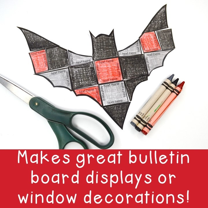 EDITABLE Bat Puzzle for Elementary or Middle School Kids
