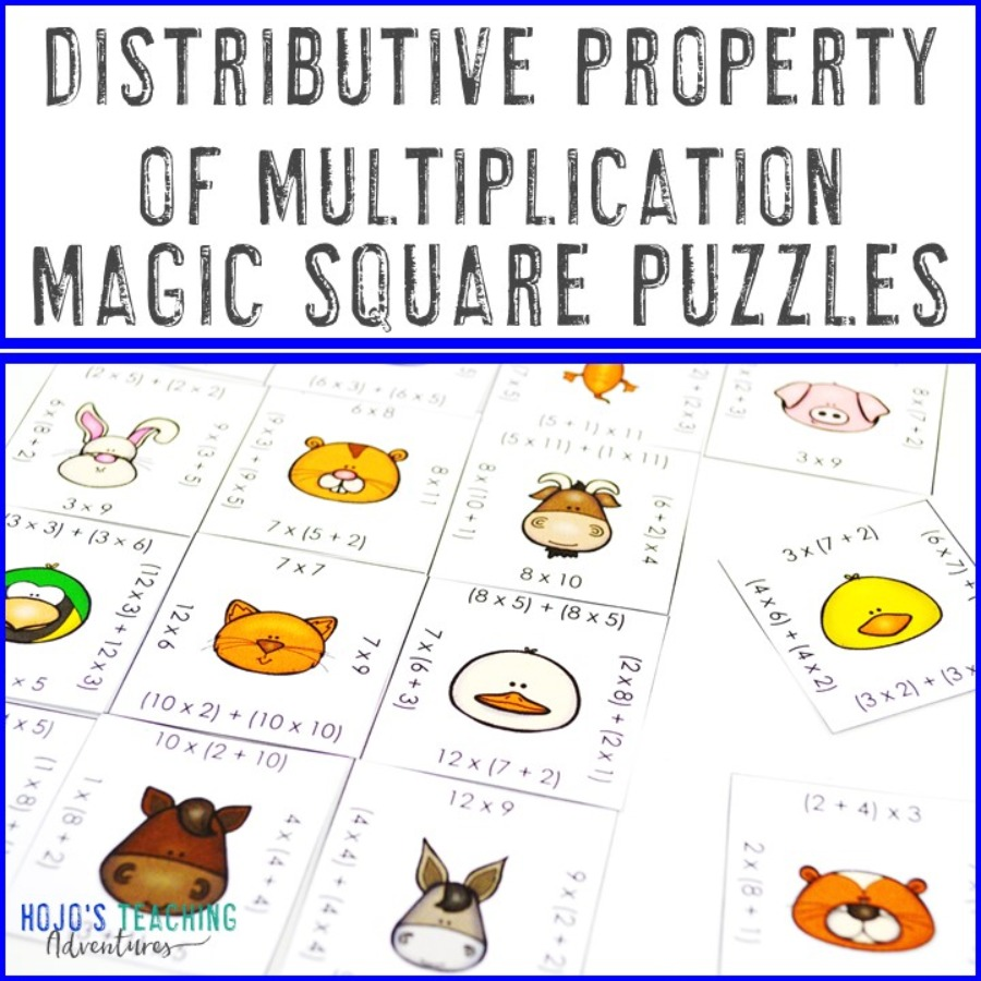 Distributive Property of Multiplication Math Games