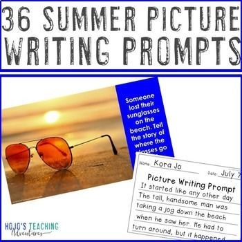 EDITABLE Summer Writing Prompts