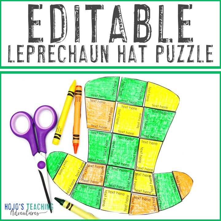 EDITABLE Leprechaun Hat Puzzle