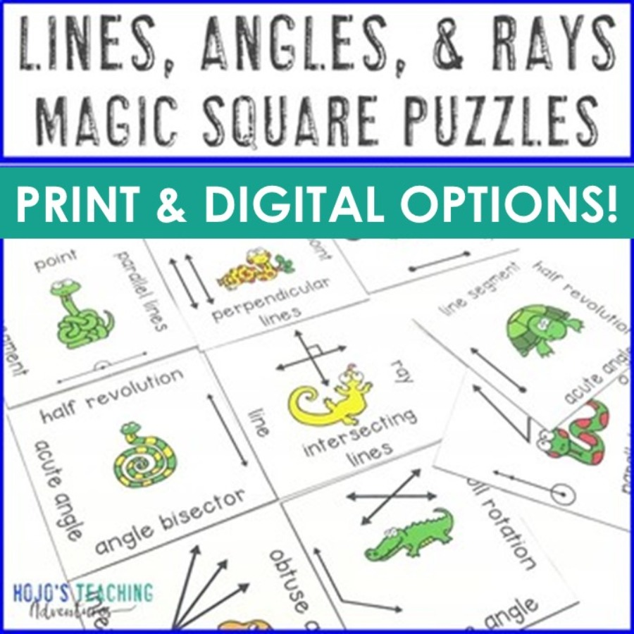 Lines, Angles, and Rays Magic Square Puzzle