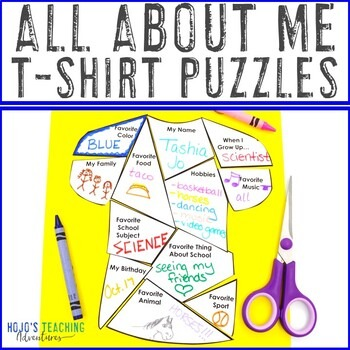 All About Me T-Shirt Puzzles