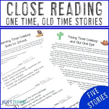 Close Reading Cowboy Stories