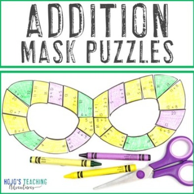 ADDITION Mask Puzzles