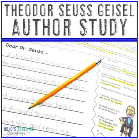 Theodor Seuss Geisel Author Study | Reading, Writing, & Math Components