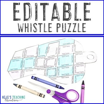EDITABLE Whistle Puzzle