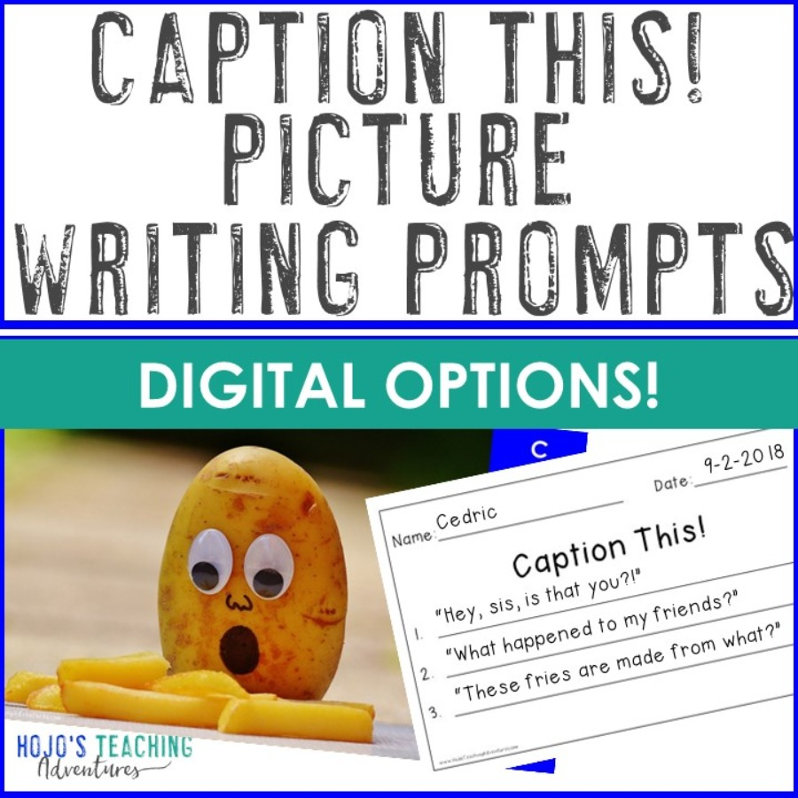 EDITABLE Caption This! Picture Writing Prompts