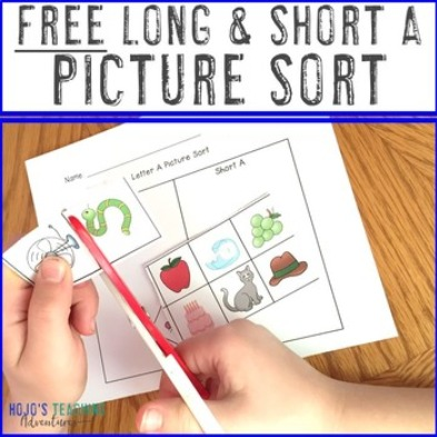 FREE Long A and Short A Picture Sort