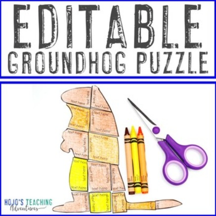 EDITABLE Groundhog Puzzle for Elementary & Middle Schools