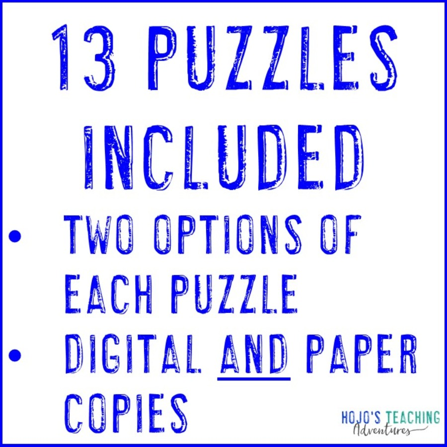 Addition Magic Square Puzzles - Printable AND Digital Copy