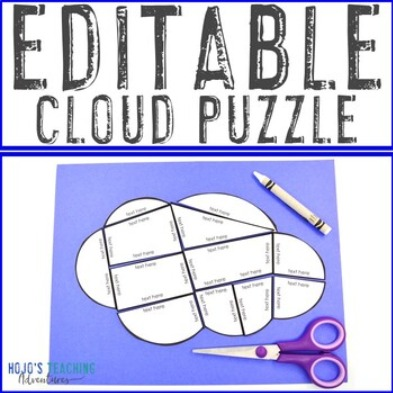 EDITABLE Cloud Puzzle