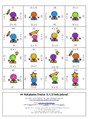 FREE Multiplication Magic Square Puzzle
