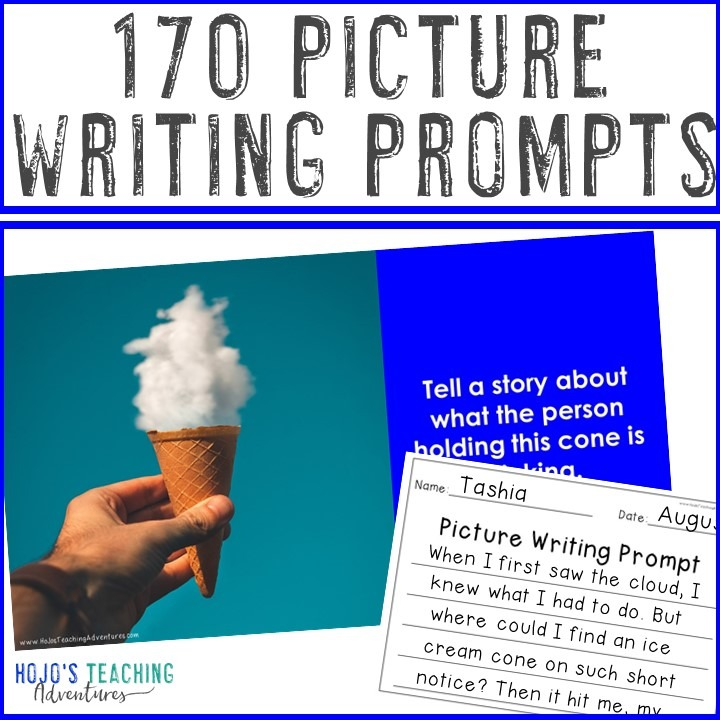 170 EDITABLE Picture Writing Prompts for Elementary, Middle School, or Sped Rooms