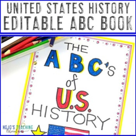 EDITABLE United States History ABC Book