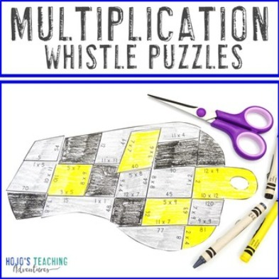 MULTIPLICATION Whistle Puzzles