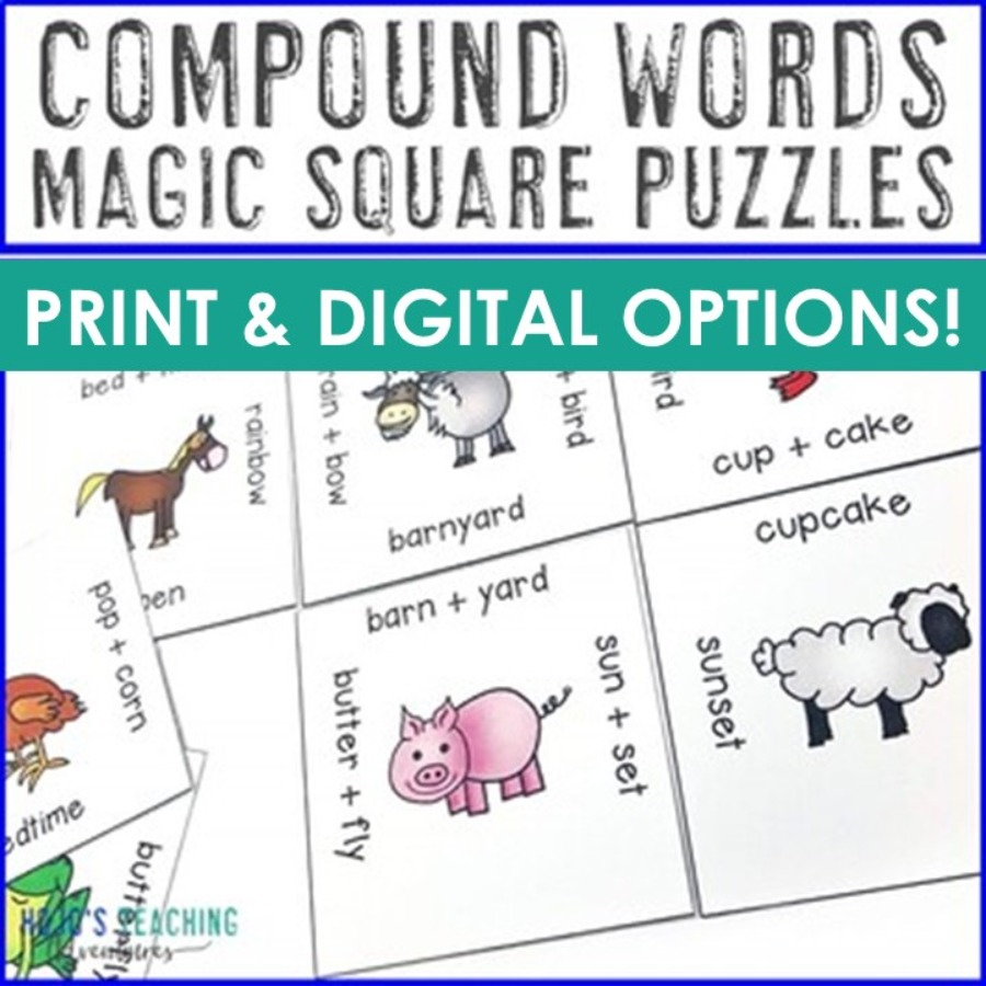 Compound Words Magic Square Puzzles