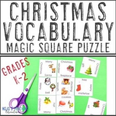 FREE Christmas Vocabulary Puzzle for Primary Students