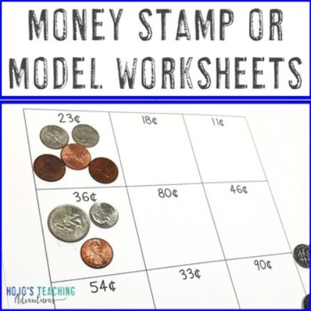 Stamp or Model Money Worksheets