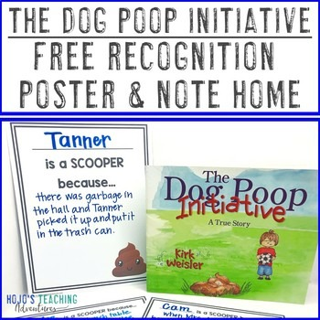 The Dog Poop Initiative FREE Recognition Poster & Note Home