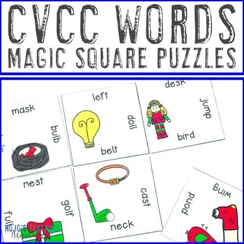 CVCC Words Magic Square Puzzles