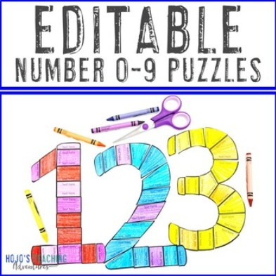 EDITABLE Number 0-9 Puzzles