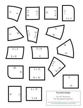 Addition Letter A-Z Puzzles