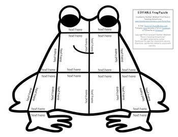 EDITABLE Frog Puzzle
