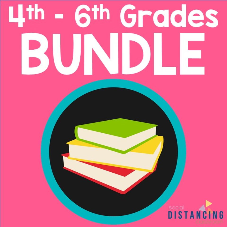 4th, 5th, & 6th GRADE Social Distancing Classroom BUNDLE