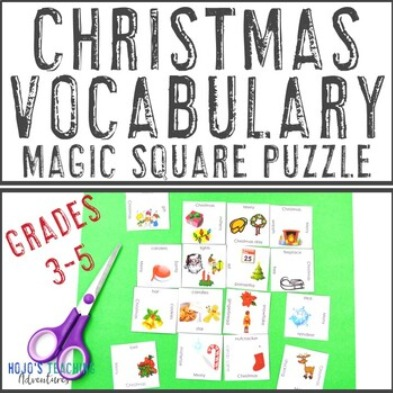 FREE Christmas Vocabulary Puzzle for 3rd, 4th, or 5th Grade