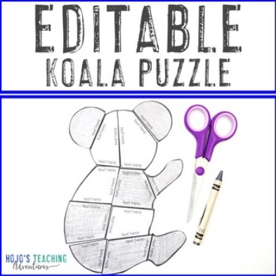 EDITABLE Koala for Elementary or Middle School Students