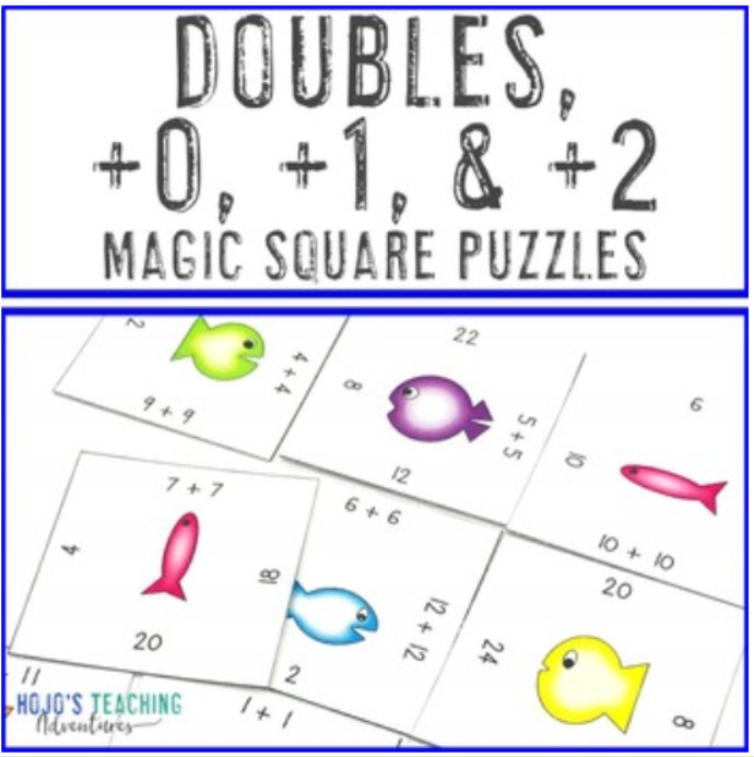 Doubles +0 +1 +2 Magic Square Puzzles