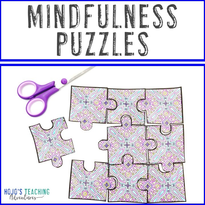 Mindfulness Puzzles for Elementary, Middle, or High School Kids