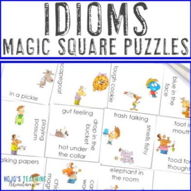 Idioms Magic Square Puzzles
