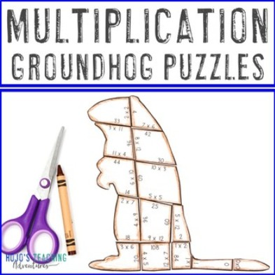 MULTIPLICATION Groundhog Puzzles