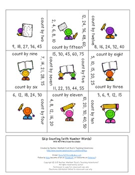 Skip Counting Magic Square Puzzles