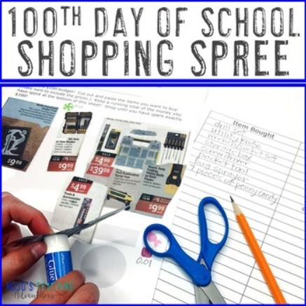 100th Day of School Shopping Spree