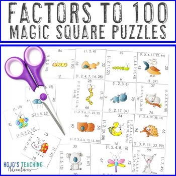Factors to 100 Magic Square Puzzles
