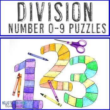 Division Number 0-9 Puzzles