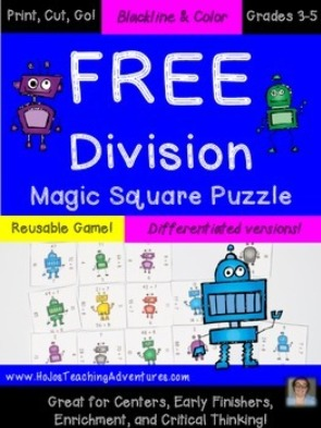 FREE Division Magic Square Puzzle