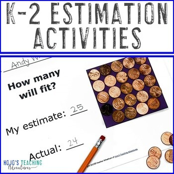 Estimation Worksheets for Kindergarten, 1st, or 2nd Grade Kids