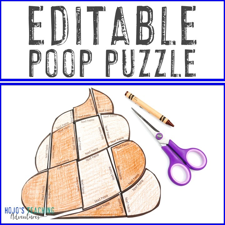 EDITABLE Poop Puzzle for Elementary Students