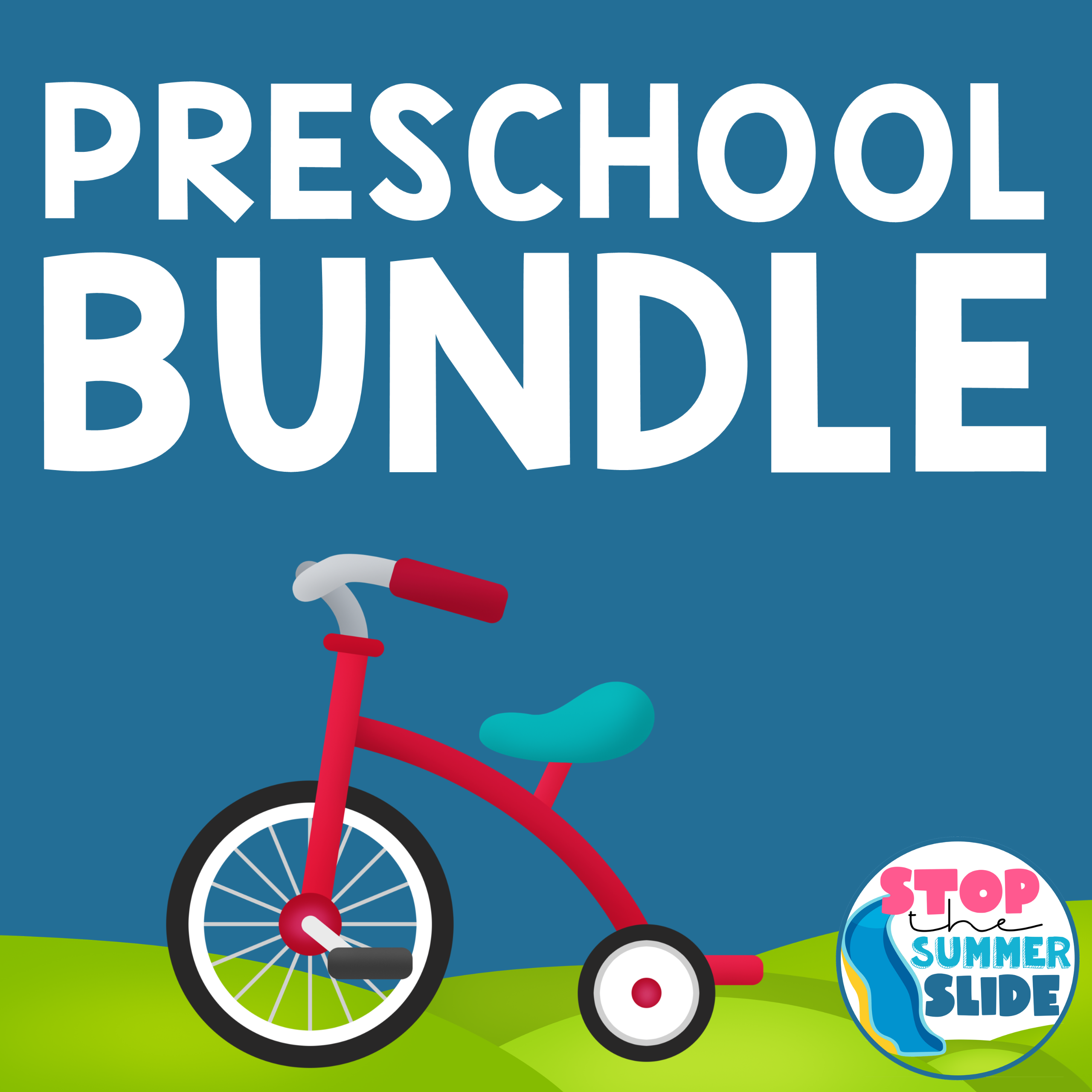 End of PRESCHOOL Stop the Summer Slide BUNDLE