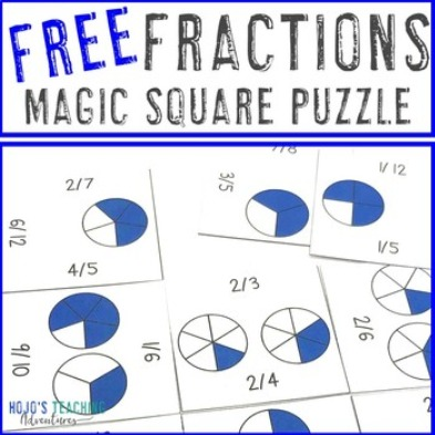 FREE Fractions Magic Square Puzzle