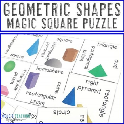 Geometric Shapes Magic Square Puzzle