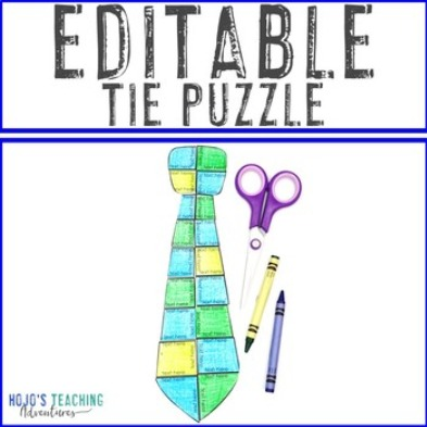 EDITABLE Tie Puzzle for Elementary or Middle School