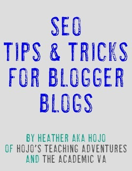 Search Engine Optimization for Blogger Blogs | SEO Basics for Teacherpreneurs