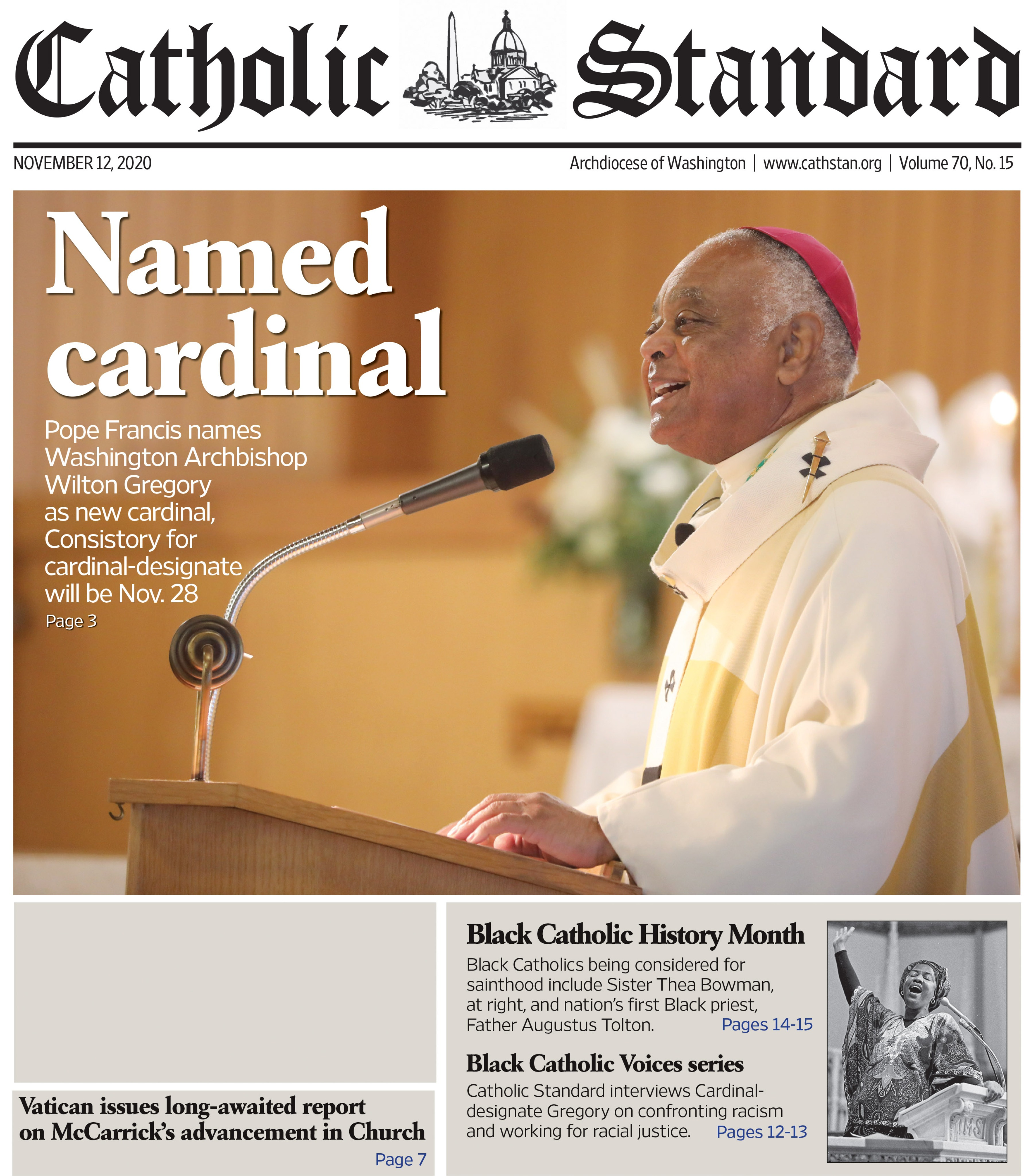 Catholic Standard I November 12, 2020