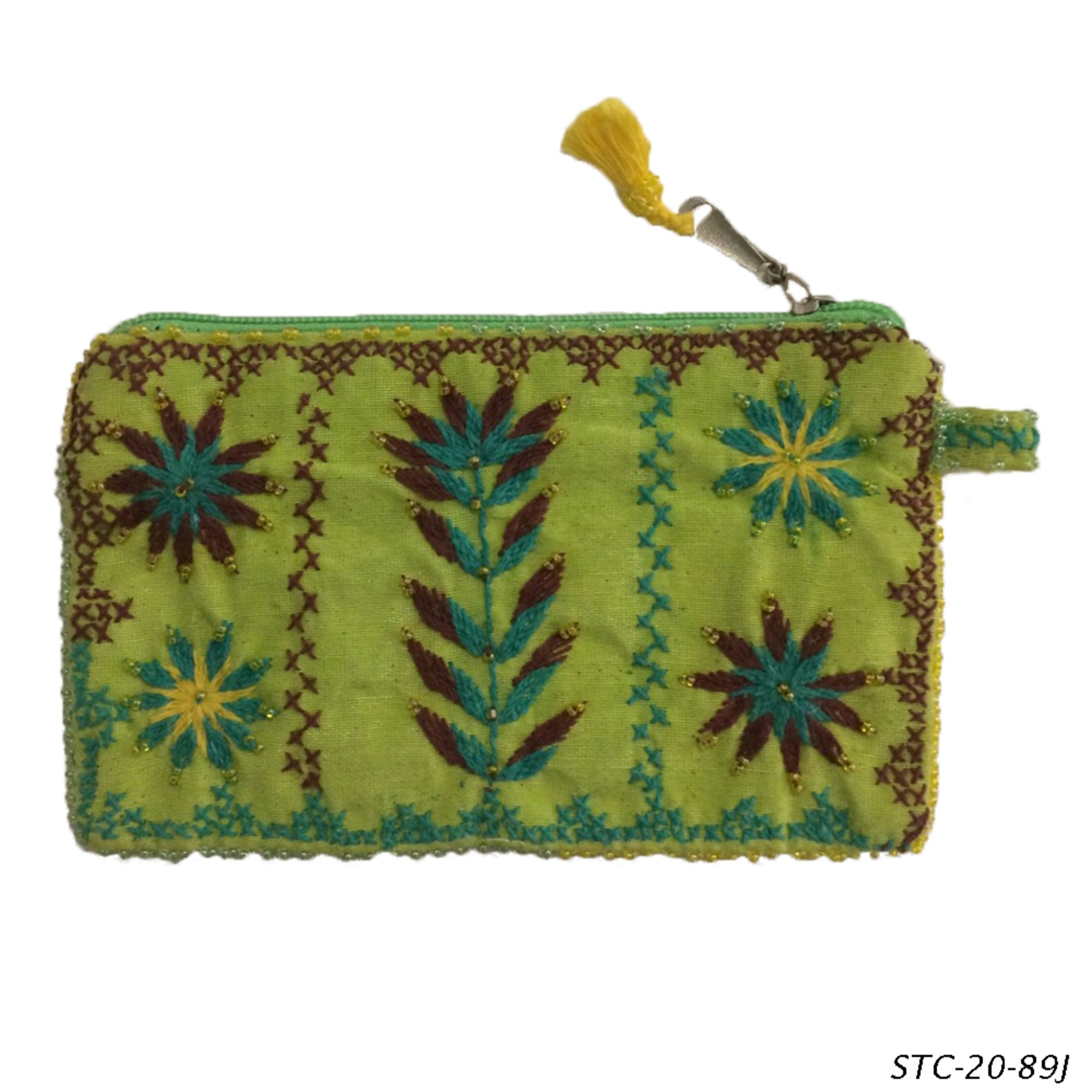 Medium Floral Bedouin Beaded & Embroidered Purse - Various Designs