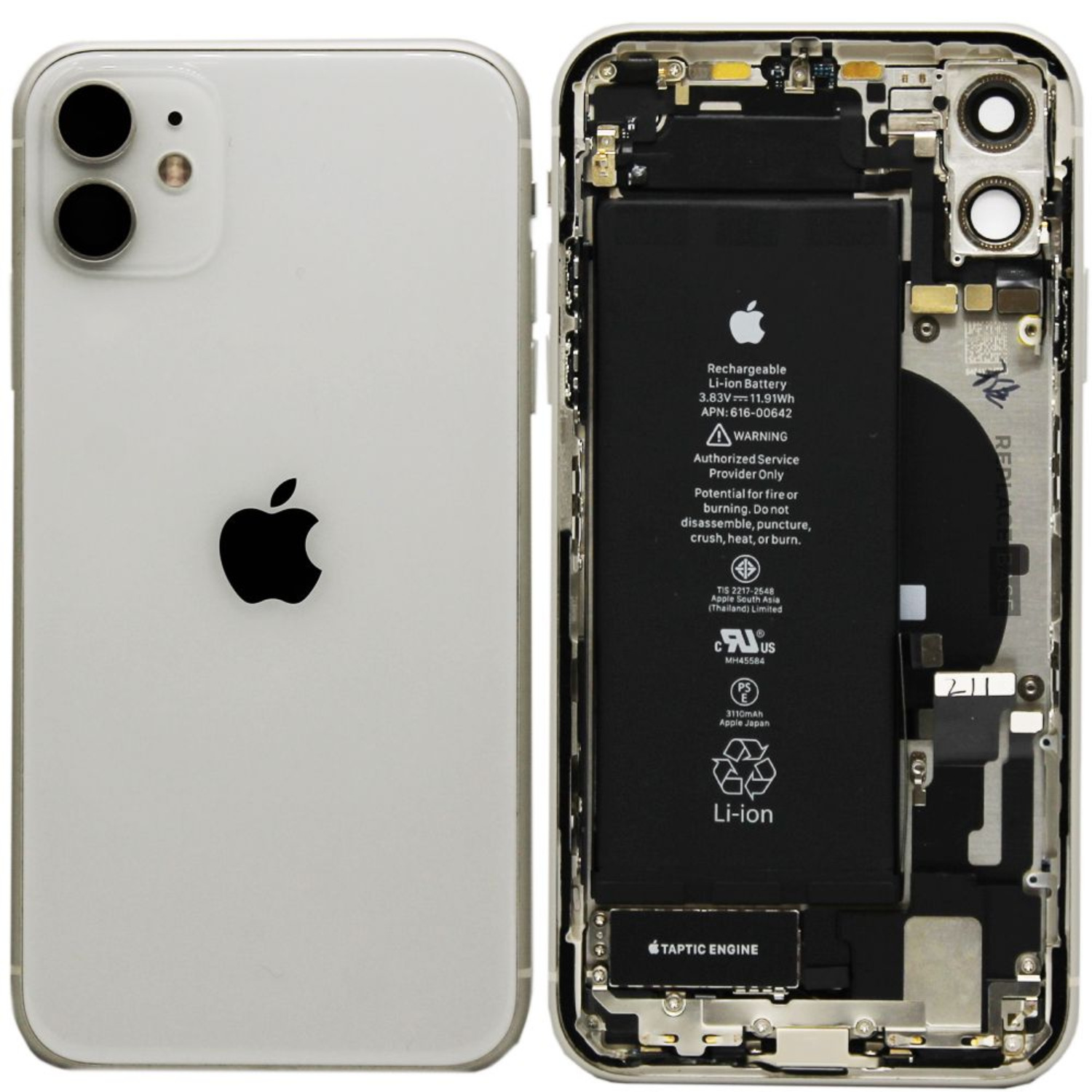 Genuine iPhone 11 Replacement Rear / Back Housing Assembly With Battery - Original / Pull